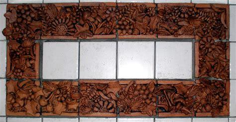 piastrelle terracotta artefantasy cornice di piastrelle in terracotta