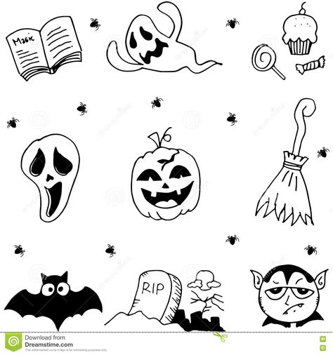doodle ghost element ghost in doodle stock vector image