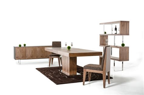 modern walnut dining table durham modern walnut extendable dining table
