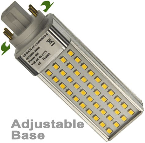 Cfl Led Light Bulb 4 Pin G24q Base 7 Watts Replaces 23 Watts 4 Pin Led Light Bulb