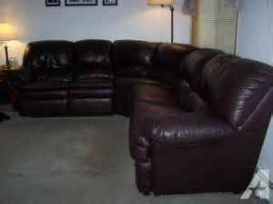 Leather Hideabed Sofa Leather Sectional Sofa With 2 Recliners And A Hide A Bed