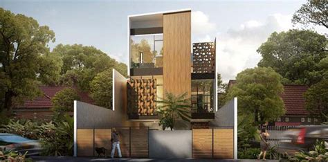 house design in indonesia house of melati modern townhouse in indonesia