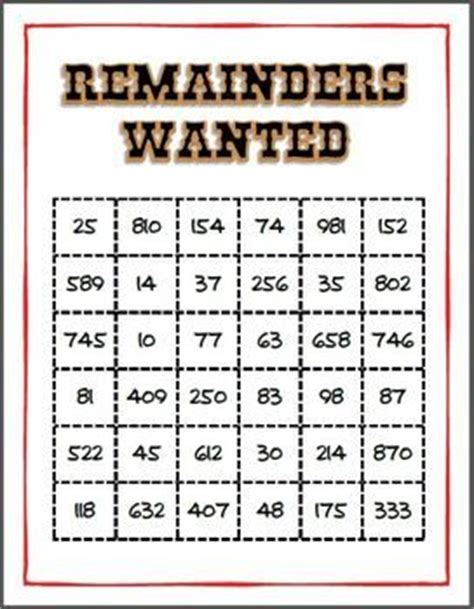 printable division games with remainders 246 best teaching division images on pinterest teaching