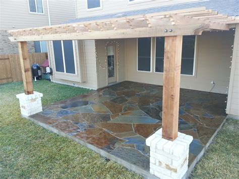 Flagstone Patio With Pergola by Flagstone Patio And Pergola Yelp