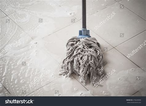 mob the floor floor cleaning mob cleanser foam stock photo 270630098