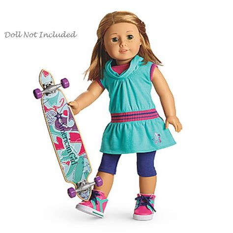 Where To Buy American Girl Gift Cards - american girl my ag skateboarding set for 18 quot dolls sport outfit retired new ebay