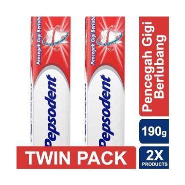 Pasta Gigi Pepsodent Besar jual pepsodent pencegah gigi berlubang pasta gigi 190g