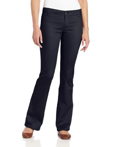 juniors black uniform pants with flap back pocket dickies girl junior s worker bootcut pant with 2 back