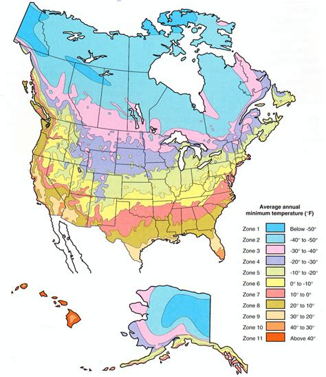 plant hardiness zone map  north america   plant