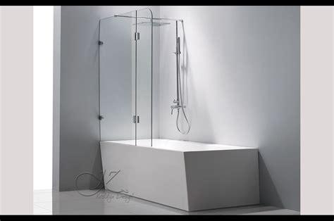 paroi baignoire pare baignoire 2 volets pivotants sur mesure cornaline
