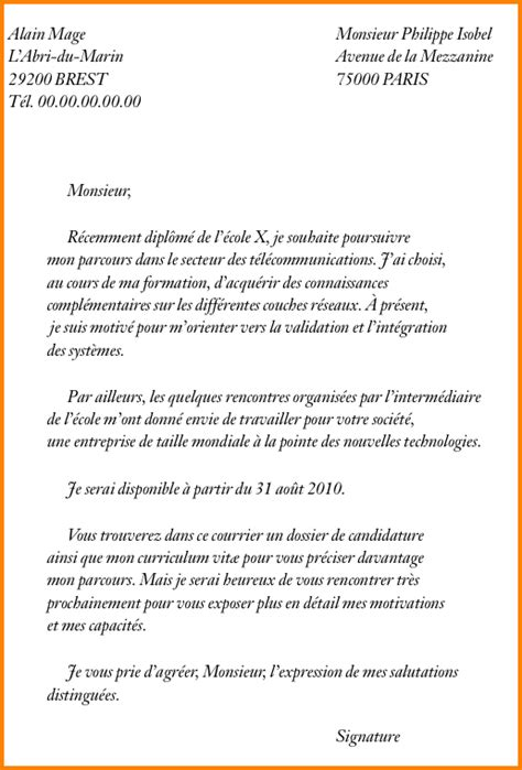 Exemple De Lettre Pour Inscription Ecole Privee 10 Exemple Lettre De Motivation Pour 233 Cole Format Lettre