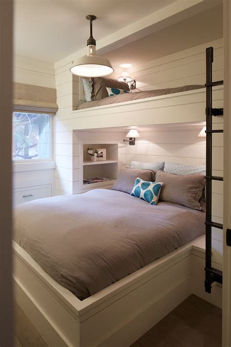 5 beds in one room built in bunk beds cottage bedroom artistic designs