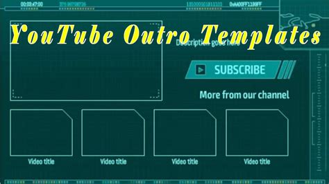 Youtube Outro Template Best Youtube Outro Maker Youtube Creator Template