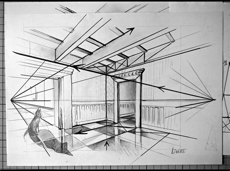Perspectief Tekenen Interieur by Kamer En Twee Punt Perspectief Tekenen Voor Beginners