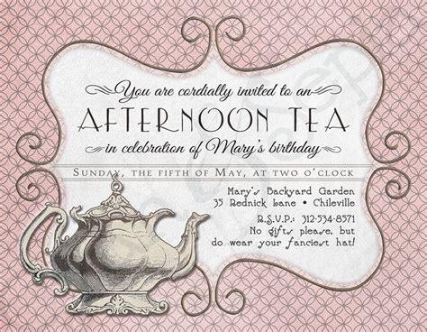tea party invitation wording tea party invitation wording