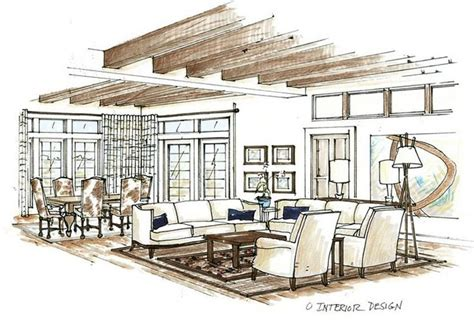 sketch interior design sketch drawing of livingroom google search pinteres