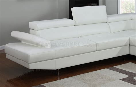 4003 sectional sofa in white bonded leather by home