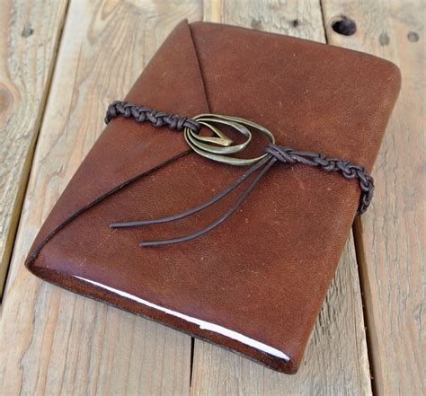 Handmade Leather Journal - products currently available circle m