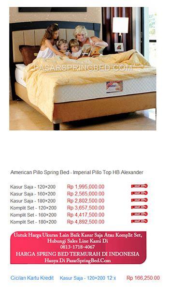 Kasur Merk American Pillo kasur american pillo harga bed termurah di indonesia