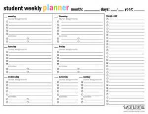 Student Calendar Planner Template by Monthly Planner To Print Calendar Template 2016