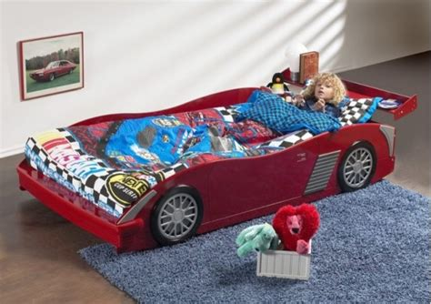 red twin race car bed frame modern kids beds toronto