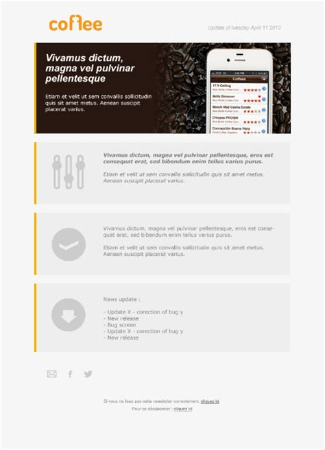 Simple Short Email Newsletter Design Inspiration 2 Color Design Email Newsletter Design Best Bdc Email Templates