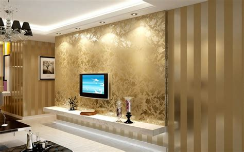 Gold Wallpaper For Living Room by Aliexpress Buy 2014 Sales Gold And Beige Striped