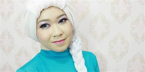 tutorial menggambar kartun frozen aldila hijaber bisa bergaya ala elsa frozen dream co id