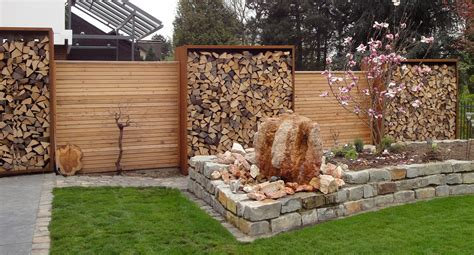 Sichtschutz Mit Brennholz by Https Www At Blank Html Garten