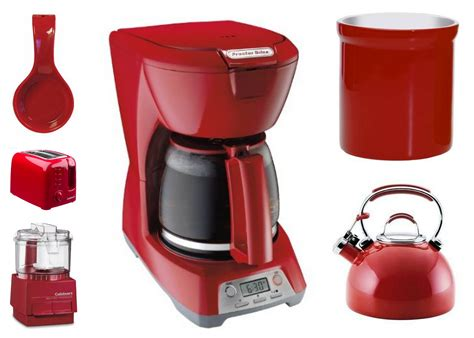 red home decor accessories red kitchen accessories at home interior designing