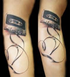 cassette tape tattoo i don t like how much tape there is