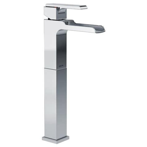 delta vessel sink faucets single handle vessel channel bathroom faucet 768lf delta