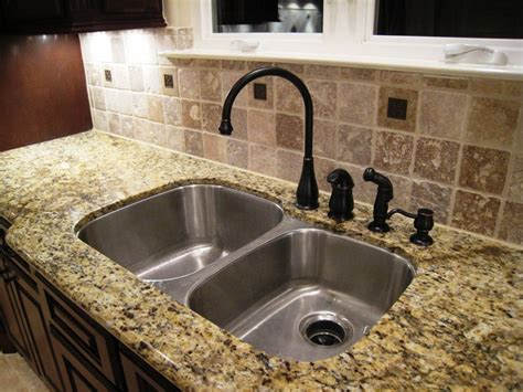 Kitchen Faucets For Granite Countertops by Black Granite Kitchen Sink With Bronze Faucet Sink Black