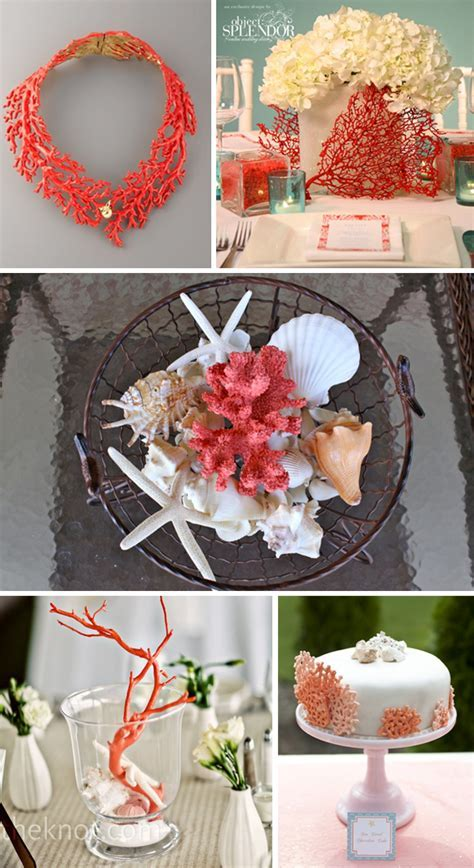 Coral Wedding Decor   The Destination Wedding Blog   Jet