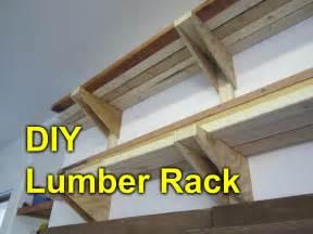 garage lumber rack easy cheap diy project