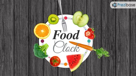 Food Clock Prezi Presentation Template Creatoz Collection Best Food Templates