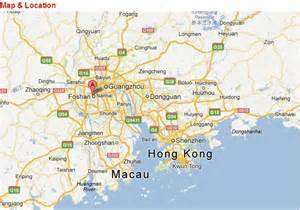 Foshan China Map by Map Of Foshan China In English