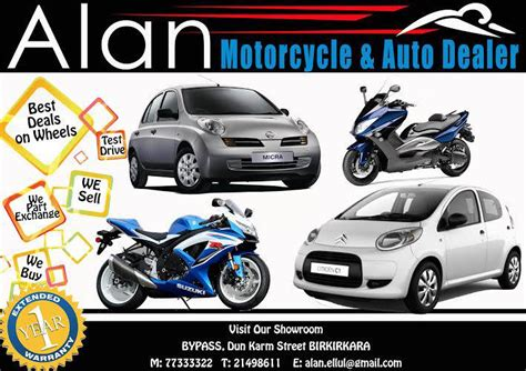 Motorcycle Dealers Malta by Alan Motorcycle And Auto Dealer All Malta Business