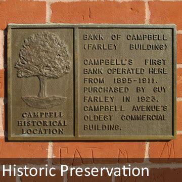 historic preservation left for ledroit planning cbell ca official website
