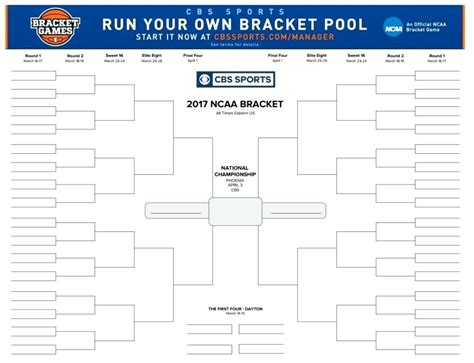 blank march madness bracket template blank ncaa bracket template
