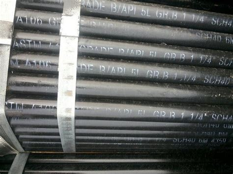 1 5 sch 40 steel pipe astm a106 api 5l gr b seamless carbon steel pipe 1 1 4