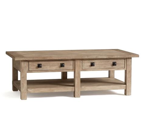 Benchwright Coffee Table Benchwright Rectangular Coffee Table Seadrift Pottery Barn