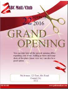 Grand Opening Flyer Template by Grand Opening Flyer Template Publisher Flyer Templates