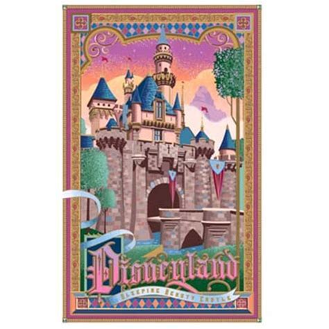 Disney Jeff Granito Print   Disney Land Castle   Sleeping