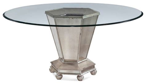 bassett mirror reflections mirrored dining table in