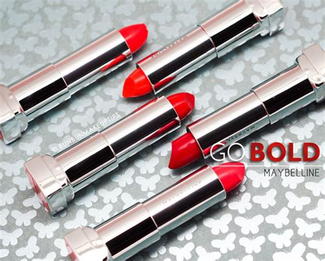 Maybelline Airliner go bold or stay with maybelline color sensational bold matte neo lipsticks bun bun