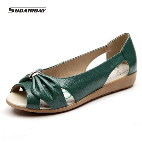 comfortable summer shoes for women new 2016 women summer pierced genuine leather shoes women