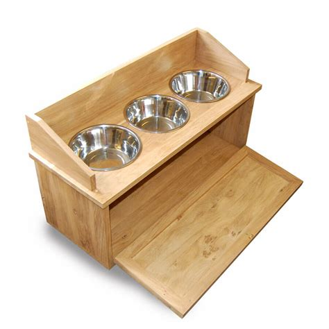 dog cabinet oak dog feeder cabinet