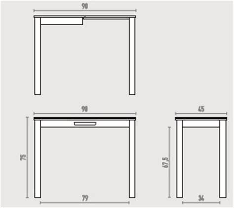 mesas de cocina medidas mesa para cocinas estrechas extensible 90x45 city y con caj 243 n