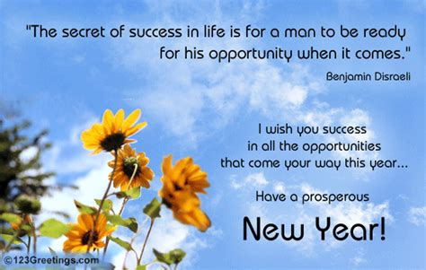 wish success on new year free inspirational wishes
